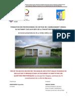 Rapport d'étude sur la mise en oeuvre des techniques architecturales durables de regulation thermique dans les résidentiels à Ndjamena