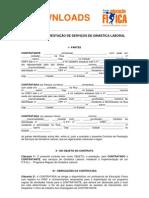 Modelo de Contrato Professor Ginastica Laboral
