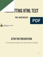 05 Formatting HTML Text