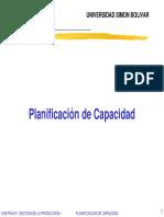 Planificacion de Capacidad