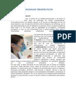 Aerosoles Terapeuticos (Terapias Respiratorias)