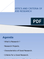 Characteristics of Good Research