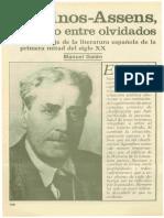 Cansinos Assens El Gran Olvidado Por Manuel Galan