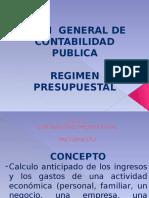 Regimen Contabilidad Presupuestal
