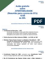 AULÃO SUSTENTABILIDADE STJ