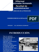 Direccion . Adecuacion de Las Instalaciones
