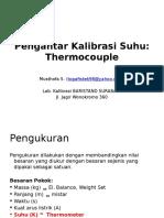 Pengantar Kalibrasi termokopel