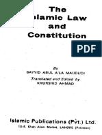 Maulana Maududi the Islamic Law & Constitution