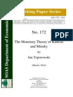 The Monetary Theory of Kalecki.pdf