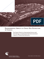 Environmental impacts of shale gas extraction in Canada