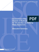 EPA executive summary on drinking water impacts