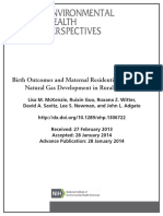 Fracking effects on fetus development