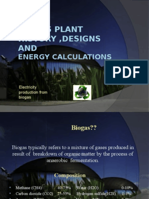 Biogas Plant Designs and Engery Calculations | Biogas | Anaerobic