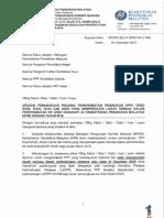 Surat Siaran Urusan Pemangkuan Ke DG42 Urusan 2016