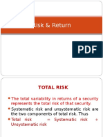 5 Risk Return