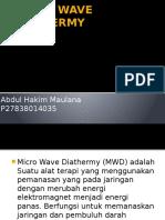 Micro Wave Diathermy