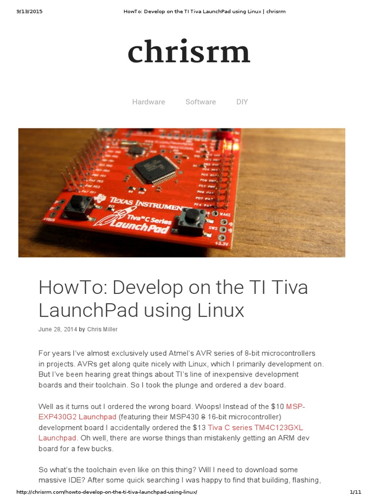 HowTo_ Develop on the TI Tiva LaunchPad Using Linux _