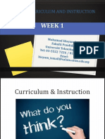 edu555 curriculum and instruction week 1