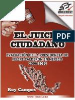 2006-2012 Evaluación del Gobierno de Felipe Calderón. Juicio Ciudadano
