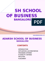 Adarsh School of Business Bangalore|MBA|PGDM