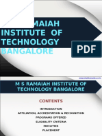 M S Ramaiah Institute of Technology Bangalore|MSRIT|MBA