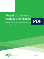 CFPB Report Snapshot Reverse Mortgage Complaints December 2011-2014