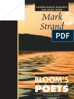 [Harold Bloom] Mark Strand