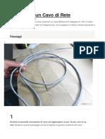 Come Fare Un Cavo Di Rete Ethernet Cat5e