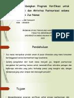 Developing a Verification Program for Sanitation and Pasteurisation