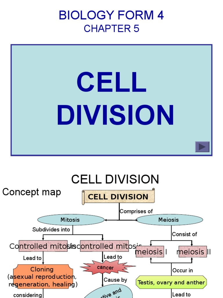 Bio F4 Chap 5 Cell Division Mitosis Meiosis