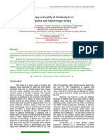 Cerebrolysin in patients with hemorrhagic stroke