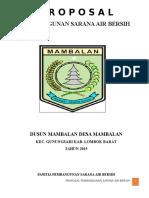 Proposal Air Bersih ACC