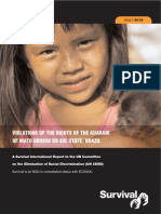 Violations of the Rights of the Guarani of Mato Grosso Do Sul State, BRAZIL