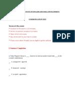 Communication Test Paper