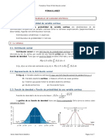 Formulario Tema 5. Distribución Normal