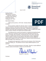 Letter from Department of Homeland Security on CISA