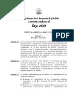 Ley de Politica Ambiental de La Pcia 10208