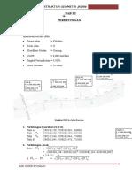 Perencanaan Struktur Geometri Jalan