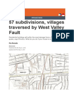 57 Subdivisions, Villages Traversed by West Valley Fault