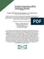 Benign Prostatic Hyperplasia (BPH) Treatments Review