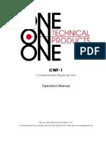 CWF-1 Operators Manual