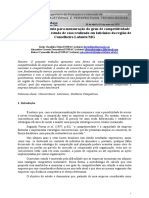 Metodologia de cálculo para mensuração do grau de competitividade entre empresas