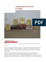 judicial activism and n democracy essay judiciaries judicial independence and the appointment of judges