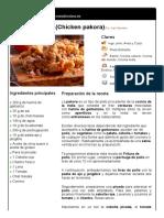 4. Fritura de Pollo (Chicken Pakora)