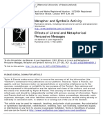 [Doi 10.1207_s15327868ms0604_3] J. Bosman; L. Hagendoorn -- Effects of Literal and Metaphorical Persuasive Messages