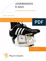 Sports Governance Observer 2015 Report