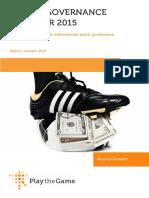 Sports Governance Observer 2015 Report