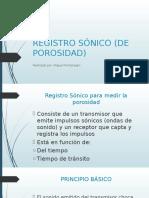 Registro Sónico (de Porosidad)