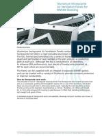 KT DS Aluminium Honeycomb Air Ventilation Panels