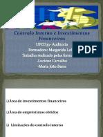 Controlo Interno Investimentos Financeiros